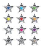 3d五颜六色的星形向量 免版税库存照片