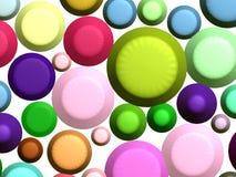 3d五颜六色的甜点重量 免版税图库摄影