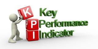 3d人员和kpi多维数据集 库存例证
