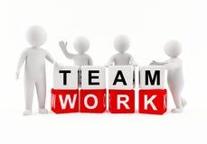 3d人小组工作 免版税库存图片