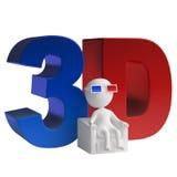 3d人立体镜 库存图片