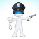 3d人警察导航 免版税库存照片