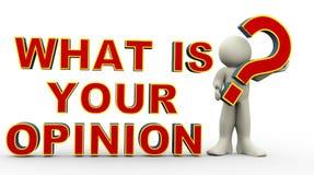 3d人-什么是您的看法? 免版税库存图片