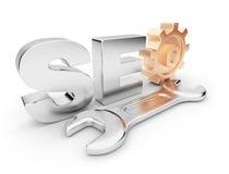 3d企业互联网优化seo 免版税库存图片