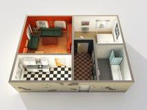3d住房建造计划 免版税库存图片