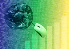 3d例证互联网 免版税库存照片