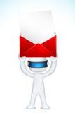 3d信包人邮政向量 库存照片