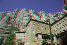 3d修道院照片 库存照片