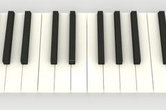 3d关键董事会钢琴 免版税图库摄影