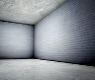 3d具体壁角grunge内部老 免版税图库摄影