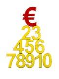 3d冠军欧洲符号 库存例证