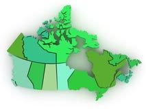 3d加拿大尺寸映射三 皇族释放例证