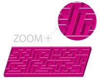 3d动画片迷宫样式 库存照片