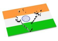 3d印度映射 库存例证