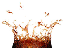 3d可口可乐飞溅 免版税库存照片