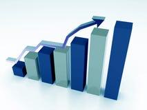 3d商业图表 库存图片