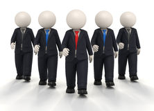 3d商业领袖小组统一 免版税库存图片