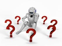 3D回报认为的机器人 免版税库存照片