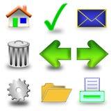 3d图标集 免版税库存照片