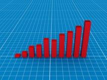 3d图表红色 向量例证