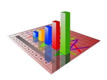 3D图表 免版税图库摄影