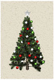 3d圣诞树 库存例证