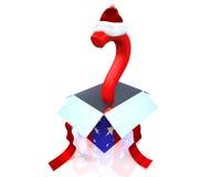 3d圣诞节概念存在 免版税库存图片