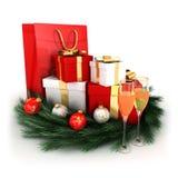 3d圣诞节礼品 免版税图库摄影