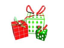 3d圣诞节礼物 向量例证