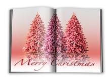 3d圣诞节笔记本回报 皇族释放例证