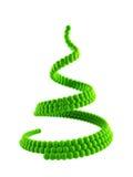 3d圣诞节符号结构树 免版税库存图片