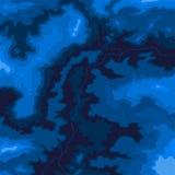 3d地形学蓝色的映射 免版税库存图片