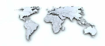 3d地球映射 库存图片