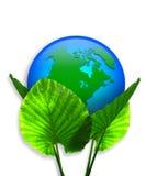 3d地球生态图象绿色 皇族释放例证