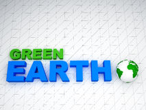 3d地球绿色 库存图片