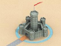 3D城堡 免版税库存照片