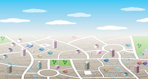 3d城市映射 库存图片