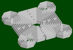 3d堡垒迷宫 免版税库存照片