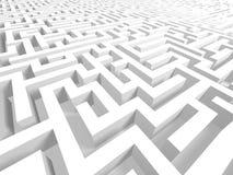 3d复杂故障迷宫成功 库存照片