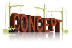 3d大厦概念概念性创建图标 库存例证