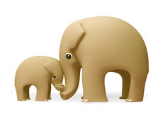 3D大象愉快的母亲节 免版税库存图片