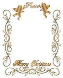 3d天使圣诞节图象和平 免版税库存照片