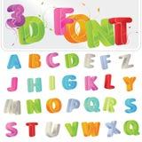 3d字体 向量例证
