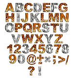 3d字母表徒步旅行队样式 免版税库存图片