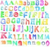 3d字母表玻璃 库存图片