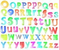 3d字母表玻璃 免版税库存图片