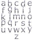 3d字母表银 库存照片