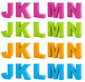 3d字母表 库存图片