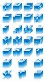 3D字母表 库存照片