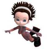 3d宇航员动画片玫瑰色诉讼年轻人 免版税库存照片